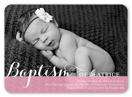 Precious swirls girl 5x7 invitation card baptism invitations baptism invitation front stopboris