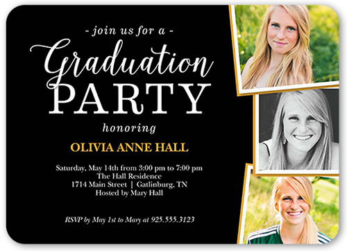 Fantastic Grad Party 5x7 Graduation Invitation – Grad Party Invites