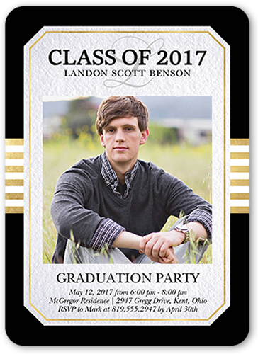 Classic Edge 5x7 Graduation Invitations Shutterfly
