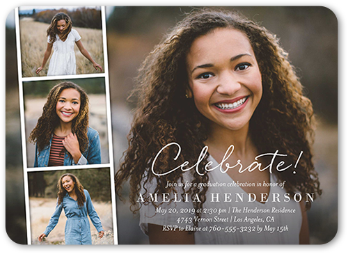 Filmstrip Celebration Graduation Invitation