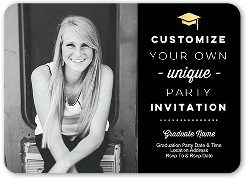 Custom Celebration Graduation Invitation, Rounded Corners