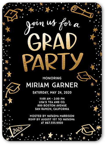 Celebration Doodles 5x7 Graduation Party Invitations