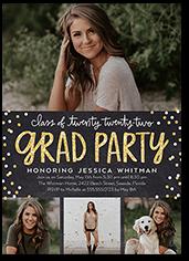 bokeh grad party graduation invitation