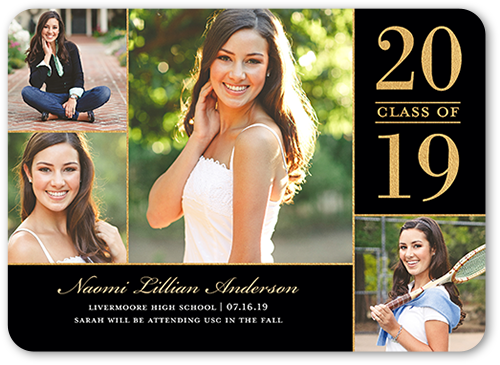 Proudly Captured Graduation Announcement, Rounded Corners