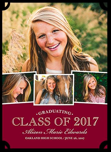 Collegiate Snapshots Graduation Announcement