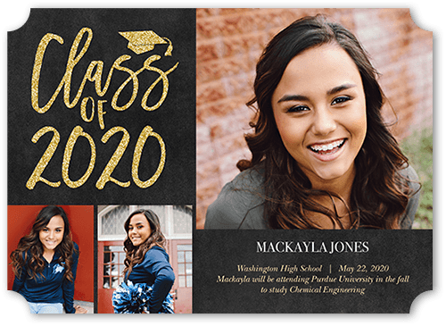 time to sparkle 5x7 graduation announcements cards shutterfly
