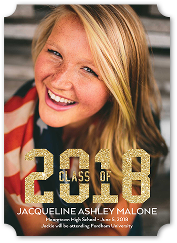 Gleaming Class Graduation Announcement