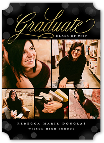 Simple Grad Bokeh Graduation Announcement