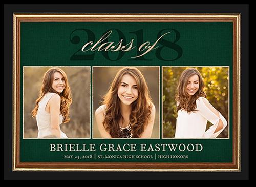 Classic Grad Frame Graduation Announcement, Square Corners