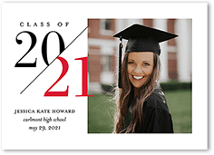 fanciful year graduation announcement