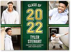 collegiate class graduation announcement
