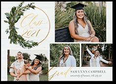 wreath ring graduation announcement