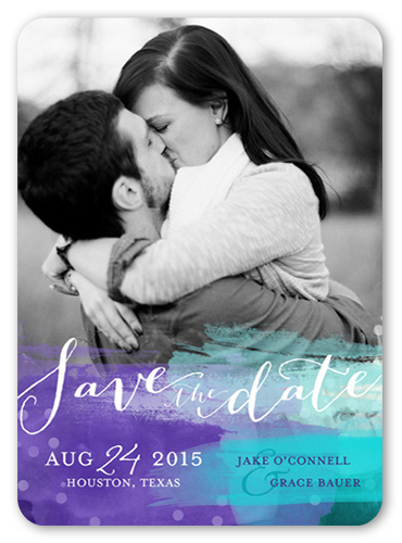 Glowing Watercolor Save The Date