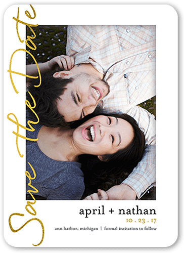 vibrant script save the dates shutterfly
