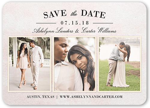 Blushing Bride Collage Save The Date