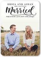 classic married save the date 5x7 flat