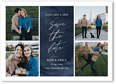 textured script save the date