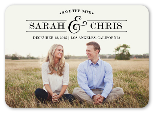 Save 48% OFF when you create save the date magnets for your wedding guests. We make it easy to upload photos and details.