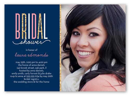 Sparkling Bride Bridal Shower Invitation, Square Corners