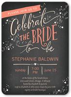 chic celebration bridal shower invitation 5x7 flat