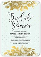 gilded bouquet bridal shower invitation 5x7 flat