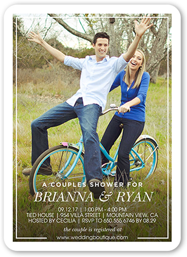 happiest couple bridal shower invitation