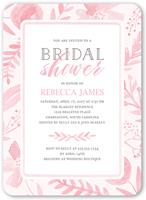painted botanicals bridal shower invitation 5x7 flat
