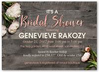 flowering perfection bridal shower invitation 5x7 flat