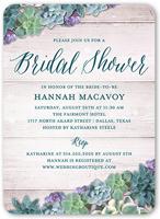 spectacular succulents bridal shower invitation 5x7 flat