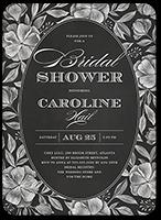 chalk florals bridal shower invitation 5x7 flat