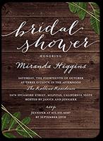 leafy frame bridal shower invitation 5x7 flat