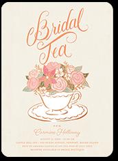floral teacup bridal shower invitation 5x7 flat