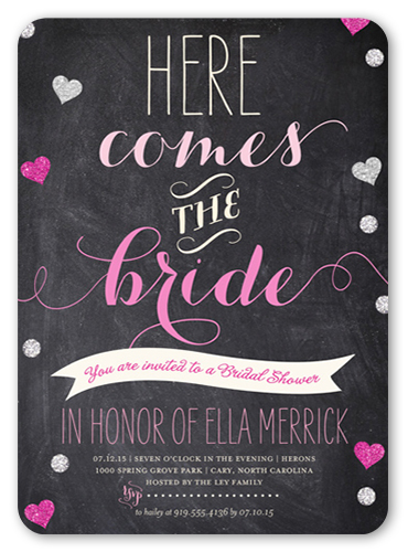 chalkboard hearts bridal shower invitation - Shutterfly Wedding Invitations