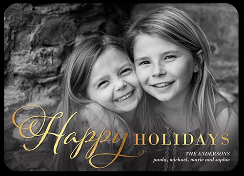 Shining Happy Holiday Card