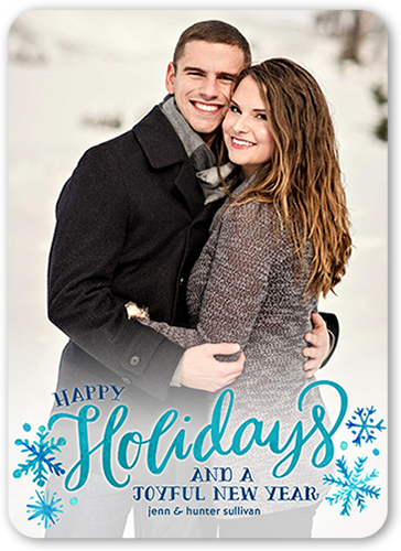 Snowflakes Of Wonder Holiday Card