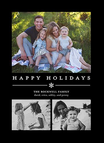 Basic Snowflake Gallery Holiday Card