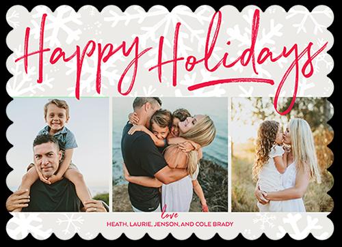 Big Overlay Flurries Holiday Card