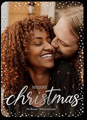 speckled frame holiday card