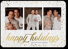 sparkling trim holiday card