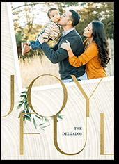 joyful photo holiday card