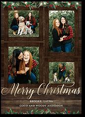 vintage holiday frame holiday card