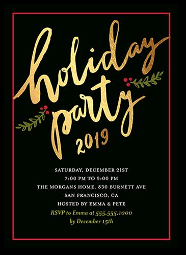 Extraordinary Party Holiday Invitation