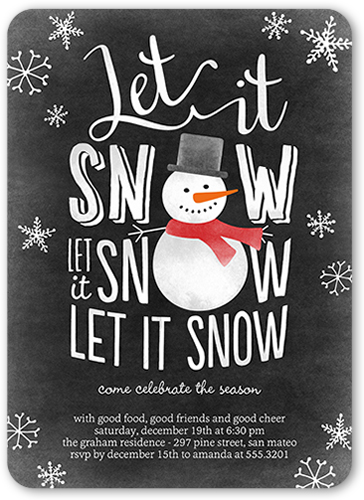 Snowy Celebration Holiday Invitation