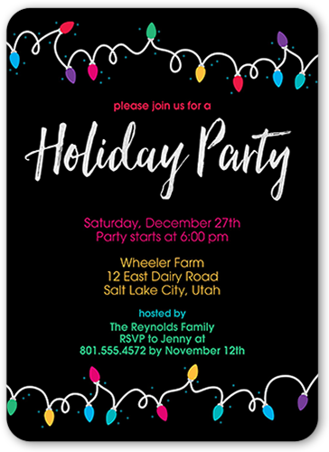 Lights And Cheer Holiday Invitation