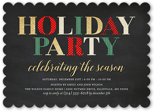 Patterned Delight Holiday Invitation