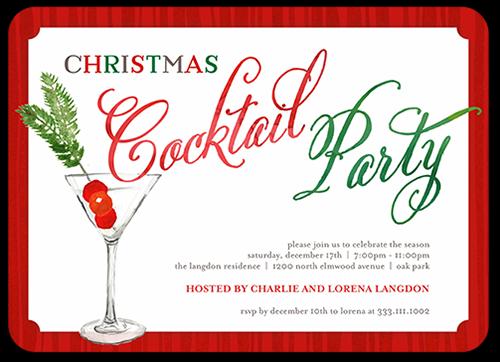 Festive Cocktail Holiday Invitation