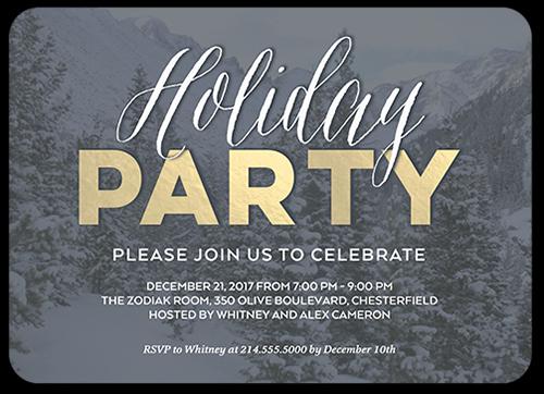 Basic Celebration Holiday Invitation, Square