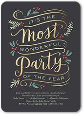 most wonderful party holiday invitation
