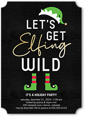 elfing wild holiday invitation