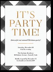 elegant plaid holiday invitation